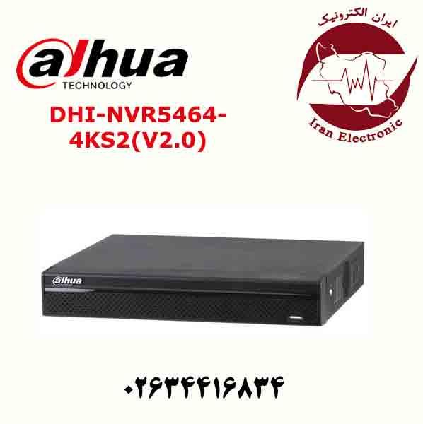دستگاه ان وی ار 64 کانال داهوا مدل Dahua DHI-NVR5464-4KS2(V2.0)