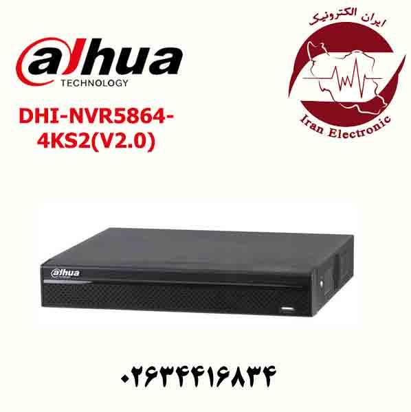 دستگاه ان وی ار 64 کانال داهوا مدل Dahua DHI-NVR5864-4KS2(V2.0)
