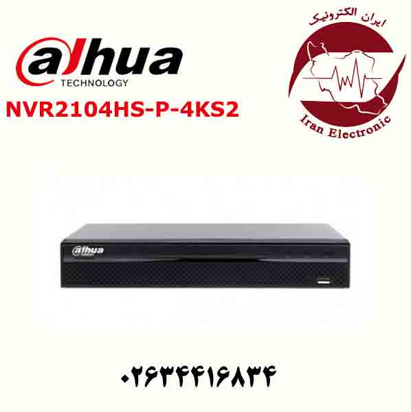 دستگاه ان وی ار 4 کانال داهوا مدل Dahua NVR2104HS-P-4KS2