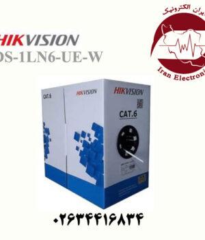 کابل شبکه Cat6 هایک ویژن مدل HikVision DS-1LN6-UE-W