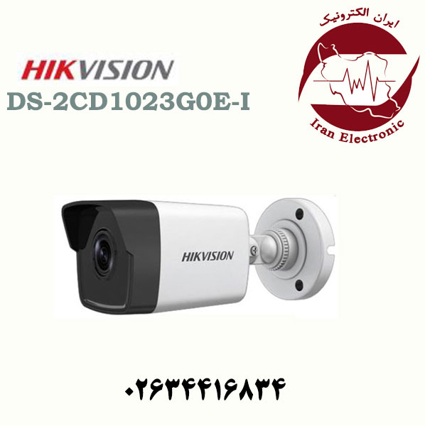دوربین مداربسته بولت آی پی هایک ویژن مدل HikVision DS-2CD1023G0E-I