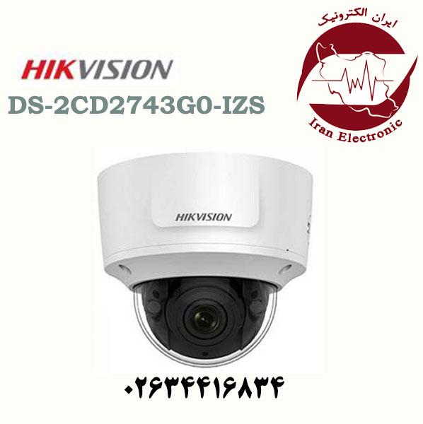 دوربین مداربسته دام آی پی هایک ویژن مدل HikVision DS-2CD2743G0-IZS