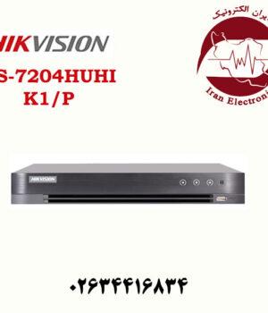 دستگاه دی وی آر 4 کانال هایک ویژن مدل Hikvision DS-7204HUHI-K1/P