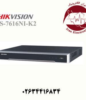 دستگاه ان وی آر 16 کانال هایک ویژن مدل HikVision DS-7616NI-K2