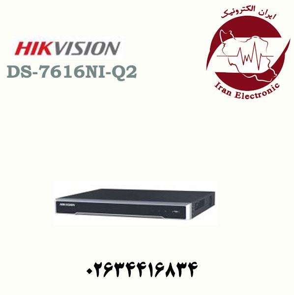 دستگاه ان وی آر ۱۶ کاناله هایک ویژن مدل HikVision DS-7616NI-Q2