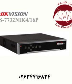 دستگاه ان وی آر 32 کانال هایک ویژن مدل HikVision DS-7732NI-K4/16P