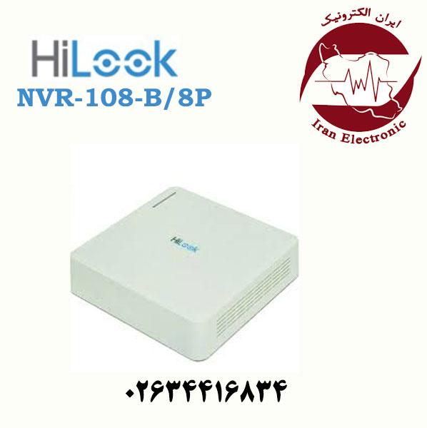 دستگاه ان وی آر 8 کانال هایلوک مدل HiLook NVR-108-B/8P