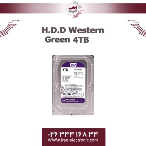 هارددیسک وسترن بنفش چهار ترا بایت H.D.D Western Purple 4TB