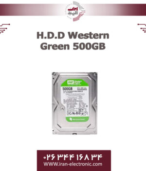 هارددیسک وسترن سبز یک 500گیگابایت H.D.D Western Green 500GB